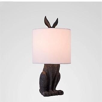מנורות שולחן שרף ארנב רעול פנים מודרני