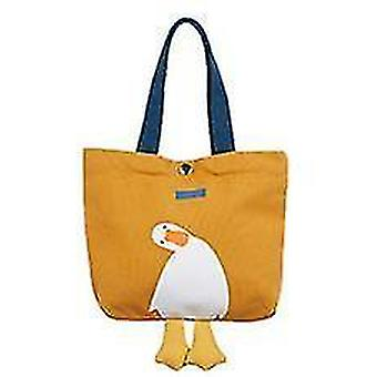 Canvas Lunch Picnic Tote Cloth Box Handbag Pouch Dinner Food Storage Student Office Lady(Orange)