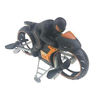 motorsykkel hodeløs modus fjernkontroll fire akse drone racing stunt leker for barn gave (oransje)