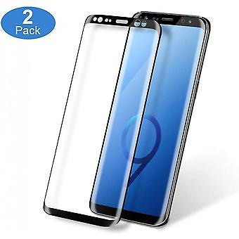 2pcs herdet glass skjermbeskytter for Samsung Galaxy S9