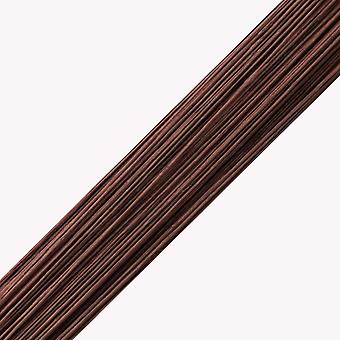 20 Dark Brown 1mm Tape Covered Floristry Stub Wires - 50cm Long