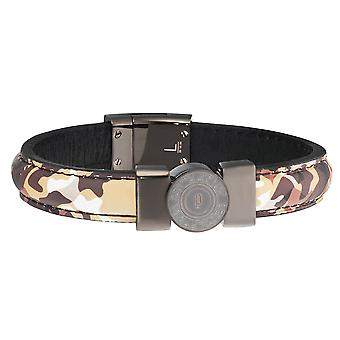 Police jewels shooter men's bracelet brown small pj.25556blu_02-s