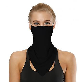 Sports Outdoor Cycling Triangle Bandage Mask Mountaineering Wristband(Black)