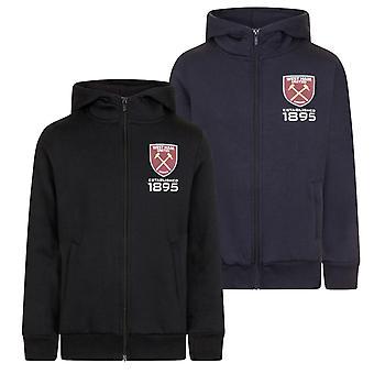 West Ham United Boys Hoody Zip Fleece Kids OFFICIAL Football Gift