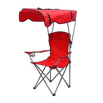 Outdoor Shade Canopy Folding Shade Chair for Adults or Kids(54x54x90cm)(Red)