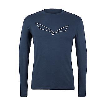 Salewa Pure Logo Merino Responsive 282623960 trening hele året menn t-skjorte