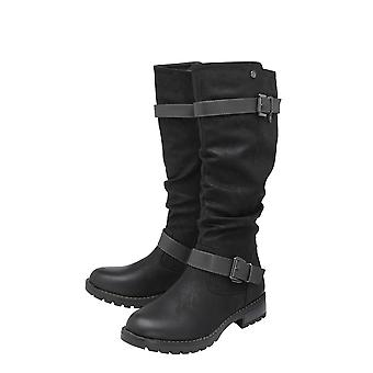 Lotus Robin Knee High Boots in Black