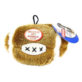 "Spot Spotbites Plush Football Dog Toy - 4.5"" Diameter"