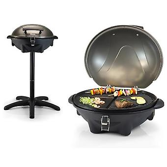 Electric grill on removable stand