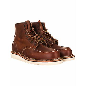 """Red Wing 1907 Heritage Work 6"""" Moc Toe Boot - Copper Rough & Tough"""