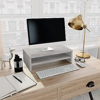Computer risers stands monitor stand concrete grey 42x24x13 cm chipboard
