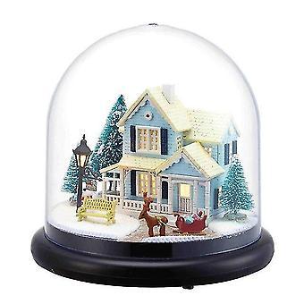 Cutebee Puppenhaus Miniatur DIY Puppenhaus mit Möbeln Holzhaus für Kinder Geburtstagsgeschenk