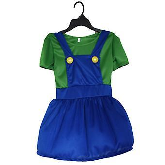ילדים סופר מריו בנים בנות Cosplay תלבושות מפואר שמלה המפלגה תלבושת