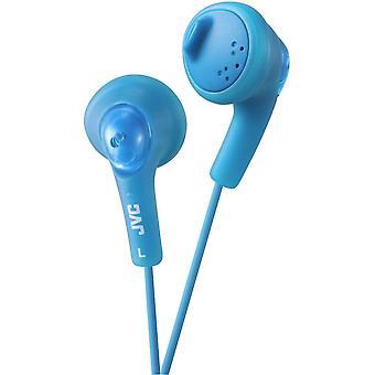 JVC Gumy Bass Boost stereohoofdtelefoon voor iPod iPhone MP3 en Smartphone - pepermunt blauw