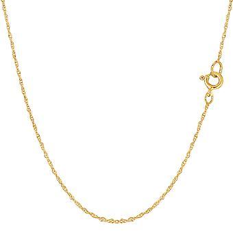 14 k gul guld reb kæde halskæde, 0,7 mm