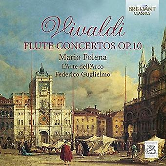 Folena, Mario / Arco L'Arte / Guglielmo, Federico - Vivaldi: Concertos de flûte Op.10 [CD] USA import