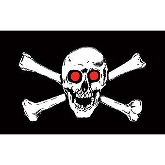 5ft x 3ft Flag - Pirate - Red eyes