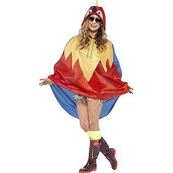 Papagal costum partid poncho papagal Bird ara poncho ploaie jacheta Festivalul costum