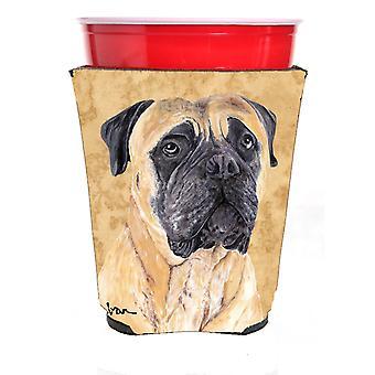 Carolines Treasures  SC9125RSC Mastiff Red Solo Cup Beverage Insulator Hugger