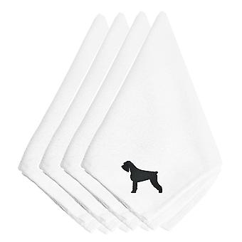Carolines Treasures  BB3473NPKE Giant Schnauzer Embroidered Napkins Set of 4