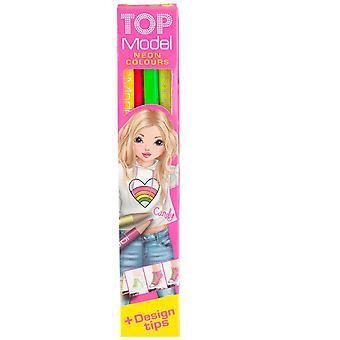 Top-Model 4 Neon Buntstifte mit Design-Tipps