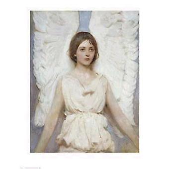 Angel plakat Print af Abbott Handerson Thayer (24 x 31)