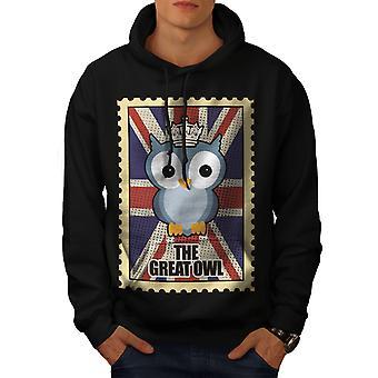 The Great Owl Men BlackHoodie   Wellcoda