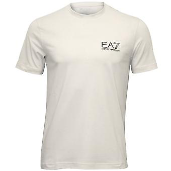 Emporio Armani EA7 camiseta de algodón del estiramiento clásico, blanco