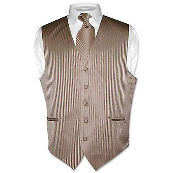 Mannen kleding Vest stropdas verticaal gestreept Design nek stropdas Set