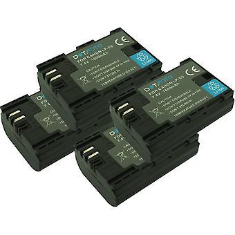 4 x dot. foto LP-E6 PREMIUM vervangende oplaadbare camera batterij voor Canon-7.4 v/1600mAh [Zie beschrijving voor compatibiliteit]