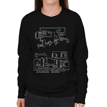 TRS 80 Computer Schematic Women's Sweatshirt