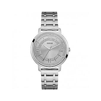 Guess Ladies Watch Beautiful Silver Texture Montauk W0933L1