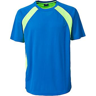 Overtreding Mens Devan actieve korte mouw Wicking Running T Shirt