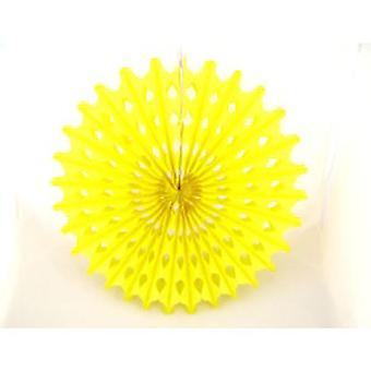 Dekoration 'Big Sun' Gelbe Honeycomb Hänge Fan