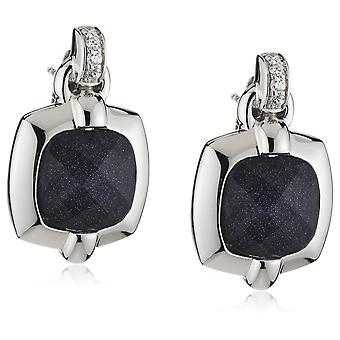 Orphelia Silver 925 Earring glas - zandsteen zirkonium ZO-5209 blauw