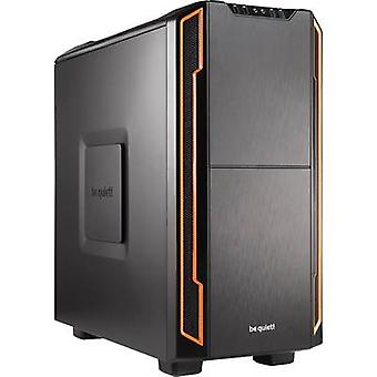 BeQuiet Silent Base 600 Midi tower Pelikonsolikotelo Oranssi, Musta 2 sisäänrakennettua tuuletinta, Työkaluton HDD-kiinnike