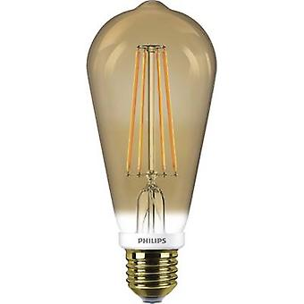 Philips Lighting LED EEC a + (A ++ - E) E27 Bulged 8 W = 50 W Gold (Ø x L) 60 mm x 148 mm Filament, dimmbare 1 PC