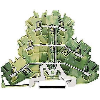 WAGO 2002-3207 Tripleport Kontinuität 5,20 mm Zugfeder Konfiguration: Terre Green, Gelb 1 Stk.