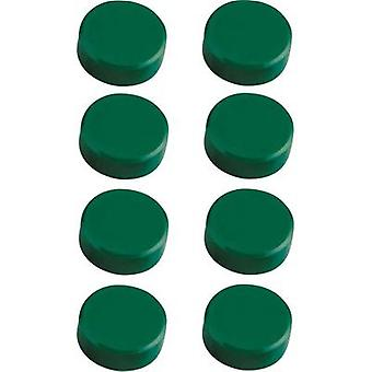 Maul Magnet MAULpro (Ø x H) 15 mm x 7 mm Round, Facet edge Green 8 pc(s) 6175255