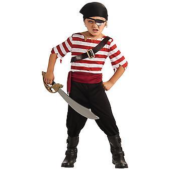 Black Jack pirat kaptajn Cutthroat Treasure Hunter bog uge drenge kostume