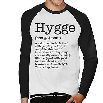 Hygge Definition Herren Baseball T-Shirt Langarm