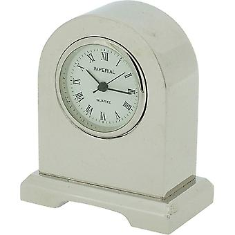 Gift Time Products Norman Arch Miniature Clock - Silver