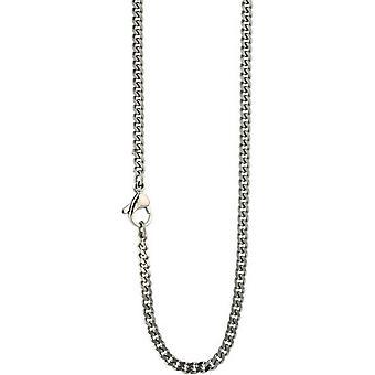 Ti2 Titanium Fine Flat Curb Chain - Silver