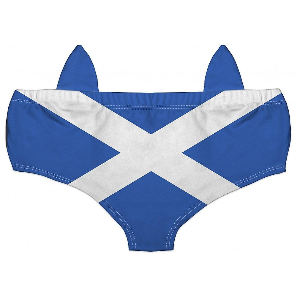 Union Jack Wear St Andrews Flag Scotland Ladies Knickers - With Ears!