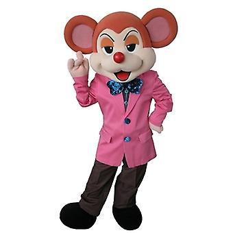 SPOTSOUND of orange and beige mouse mascot dressed in a stylish suit