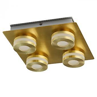Techno Gold Pendant Lamp 4 Lights