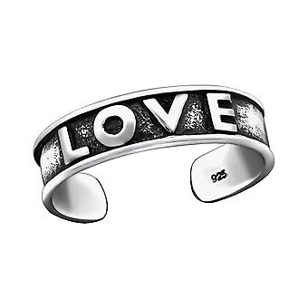 Love - 925 Sterling Silver Toe Rings - W29416x