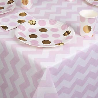Paper Tablecloth - Pink Chevrons - Table Decoration - Party