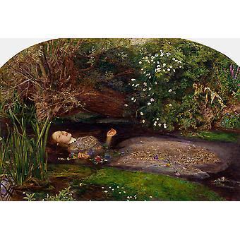 Ophélie, Sir John Everett Millais, 60x40cm