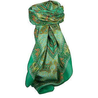 Classic Paisley Square Scarf Mulberry Silk Dyal Jade by Pashmina & Silk